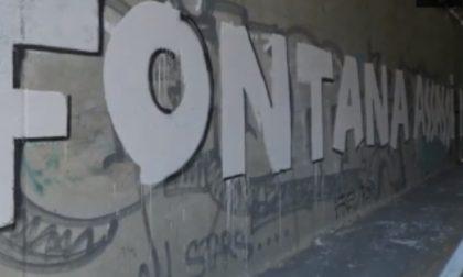 È di Pinerolo il proprietario del muro imbrattato con minacce di morte a Fontana e Sala