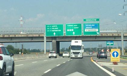 Tir contromano sulla tangenziale di Torino