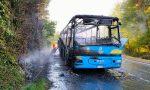Pullman Gtt a fuoco durante la marcia a Torre Canavese, passeggeri illesi