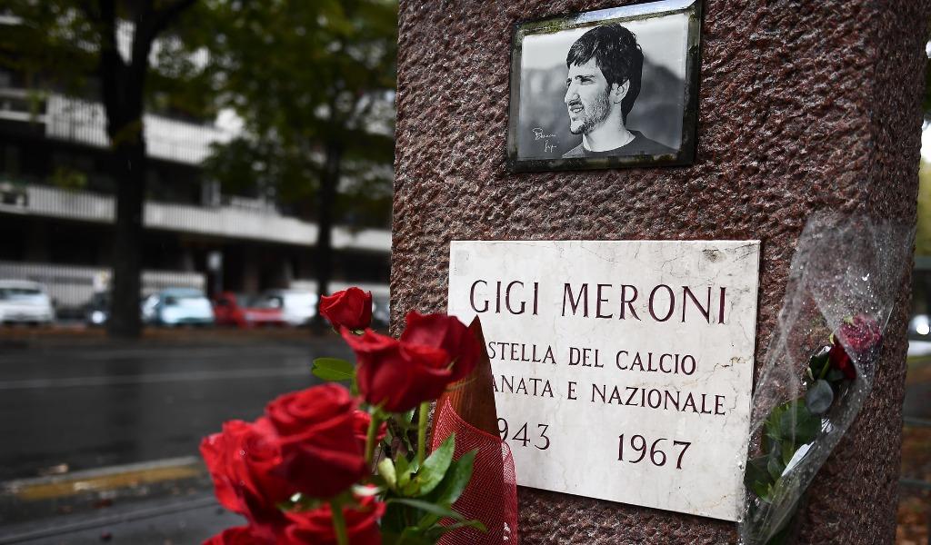 Epitafio inscrito en la tumba de Gigi Meroni, jugador del Torino FC. Fuente: Prima Torino