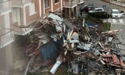 Tragedia sfiorata a Borgaro: crolla ponteggio di un palazzo di sette piani