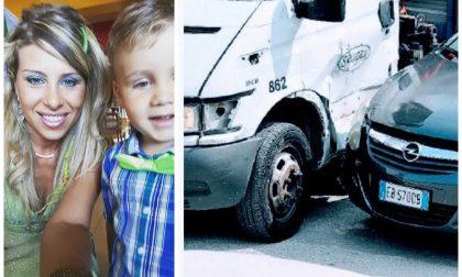 Daniele Mondello pubblica una foto: il furgone dell'incidente con Viviana è di una ditta che realizza tralicci