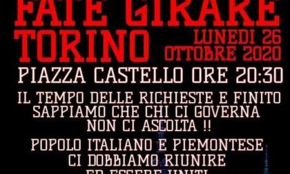 Nuovo lockdown, Torino pronta a scendere in piazza