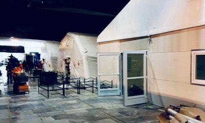 Covid, a Torino Esposizioni le tende arrivate da Trento