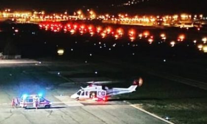 Emergenza Covid: malato grave trasferito in elicottero