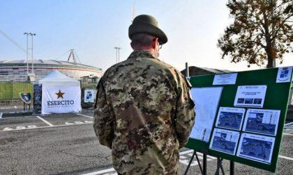 Esercito al lavoro allo Juventus Stadium per un nuovo hotspot tamponi