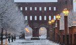 E' arrivata la neve (poca) a Torino: le foto della nevicata in città