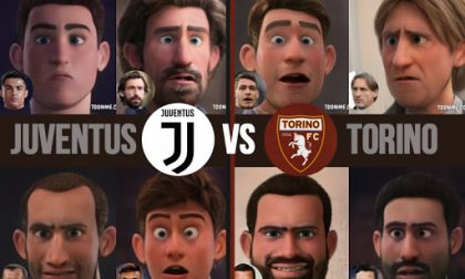 Il derby della Mole in versione cartoon: Juventus vs Torino