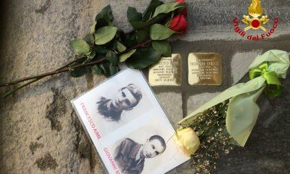 Le foto della cerimonia di posa delle due pietre d'inciampo per Aime Francesco e Giovanni Bricco