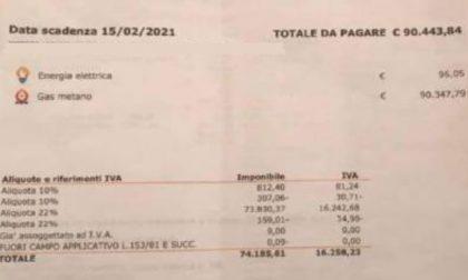 """Bolletta """"pazza"""": oltre 90mila euro di gas"""