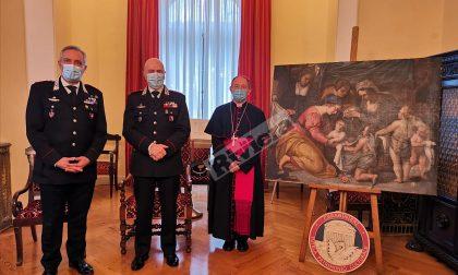 Carabinieri di Torino recuperano pala d'altare del '700 trafugata nel Cuneese nel 1994