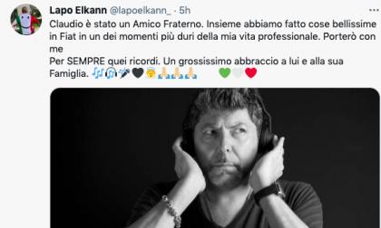 L'abbraccio di Lapo Elkann alla famiglia di Claudio Coccoluto, il dj di fama mondiale morto questa mattina