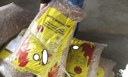 Sequestrate 25 tonnellate di pellet contraffatto, quattro persone denunciate