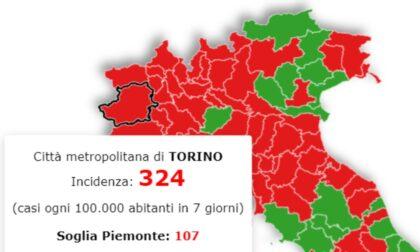 Incidenza contagi Covid: Torino è (ancora) da zona rossa, ma la curva cala
