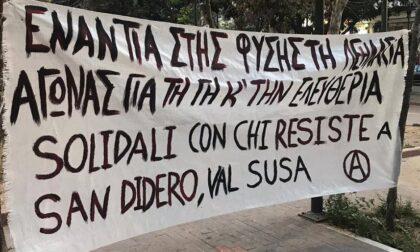 Anche il Cub (sindacati di base) e un manipolo di anarchici greci a fianco della protesta No Tav