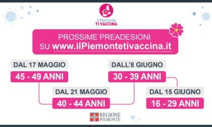 Vaccini Covid: in Piemonte le preadesioni per gli over40 anticipate a lunedì 17 maggio