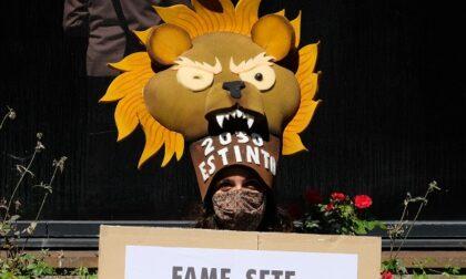 Ambientalisti d'assalto travestiti da animali protestano contro UniCredit