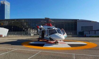 Il piazzale del Lingotto diventa aeroporto per gli elisoccorsi