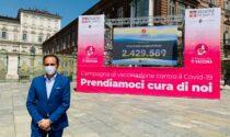 """L'hub vaccinale del Valentino parte il 31 maggio con gli over 60 e in piazza Castello spunta """"il contatore di vaccini"""""""
