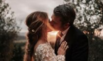 Luca Argentero e Cristina Marino sposi in sidecar, le nozze in Umbria