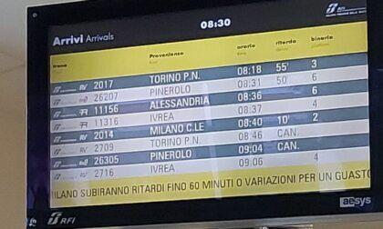 Treni in ritardo sulla linea Torino-Milano, c'è un guasto tecnico