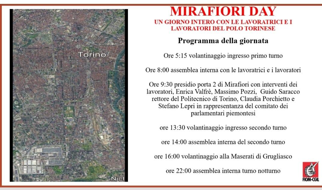 """Mirafiori Day, i lavoratori Fiat: """"Vogliamo certezze sul futuro degli stabilimenti torinesi"""""""