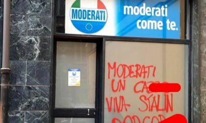 Imbrattata la sede dei Moderati a Torino
