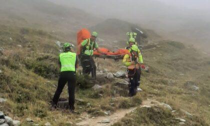 Si infortuna alle pendici del Monte Orsiera: escursionista 84enne salvato dal Soccorso Alpino