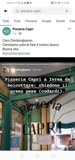 pizzeria Ivrea green pass