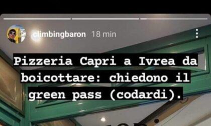 Pizzeria di Ivrea chiede il Green pass: gestori insultati sui social