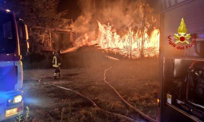 Incendio a Bussoleno: ci sono volute ore per spegnerlo