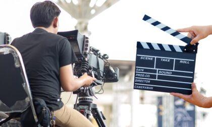 Girano un film nella fabbrica di Verolengo: è un giallo-thriller
