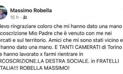 """Elezioni Torino 2021: """"Grazie ai camerati"""", bufera sul neoconsigliere di FdI"""