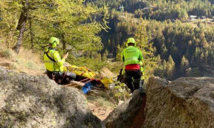 Falesia del Droide: scalatore precipita per 10 metri e perde i sensi